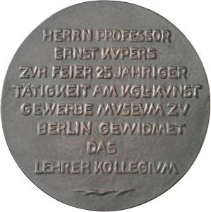 Weidanz, Gustav: 25-jähriges Dienstjubiläum Prof. Ernst Küpers