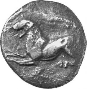 Εμπροσθότυπος Αμαθούντα, Αβέβαιος βασιλέας ή Ρόϊκος, SilCoinCy A1127