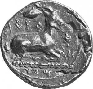 Οπισθότυπος Σαλαμίνα, Ευαγόρας Α΄, SilCoinCy A1305