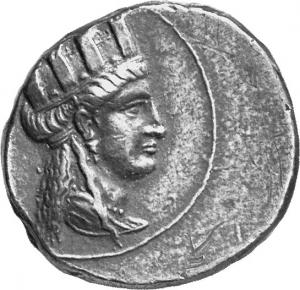 Οπισθότυπος Σαλαμίνα, Ευαγόρας Β΄, SilCoinCy A1320