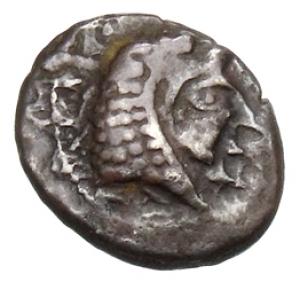 Obverse Kition, Baalmilk I, SilCoinCy A1158