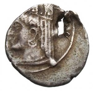 Εμπροσθότυπος Νομισματοκοπείο Κιλικίας ;, Ευαγόρας Β΄ (όχι ως βασιλέας Σαλαμίνας), SilCoinCy A1328