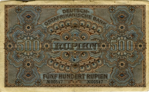 Deutsch-Ostafrikanische Bank: 500 Rupien 1912