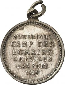 Kube, Rudolf: Siegesmedaille (Siegespfennig) 1914 Camp des Romains