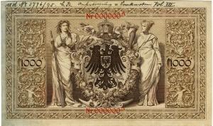 Deutsches Reich: 1.000 Mark 1895 Probe
