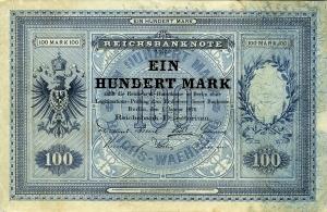 Deutsches Reich: 100 Mark 1876 Probe