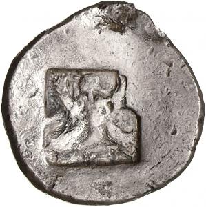 Οπισθότυπος Αβέβαιο κυπριακό νομισματοκοπείο, Αβέβαιος βασιλέας Κύπρου (αρχαϊκή περίοδος), SilCoinCy A1377