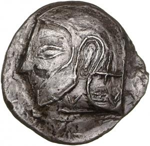 Εμπροσθότυπος Αβέβαιο κυπριακό νομισματοκοπείο, Αβέβαιος βασιλέας Κύπρου (αρχαϊκή περίοδος), SilCoinCy A1377