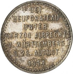 Kube, Rudolf: Siegesmedaille (Siegespfennig) 1914 Neufchâteau
